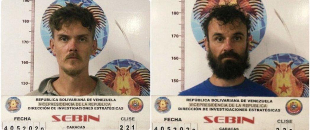 委內瑞拉政府公布兩名美國被俘者的頭像。 圖/Twitter