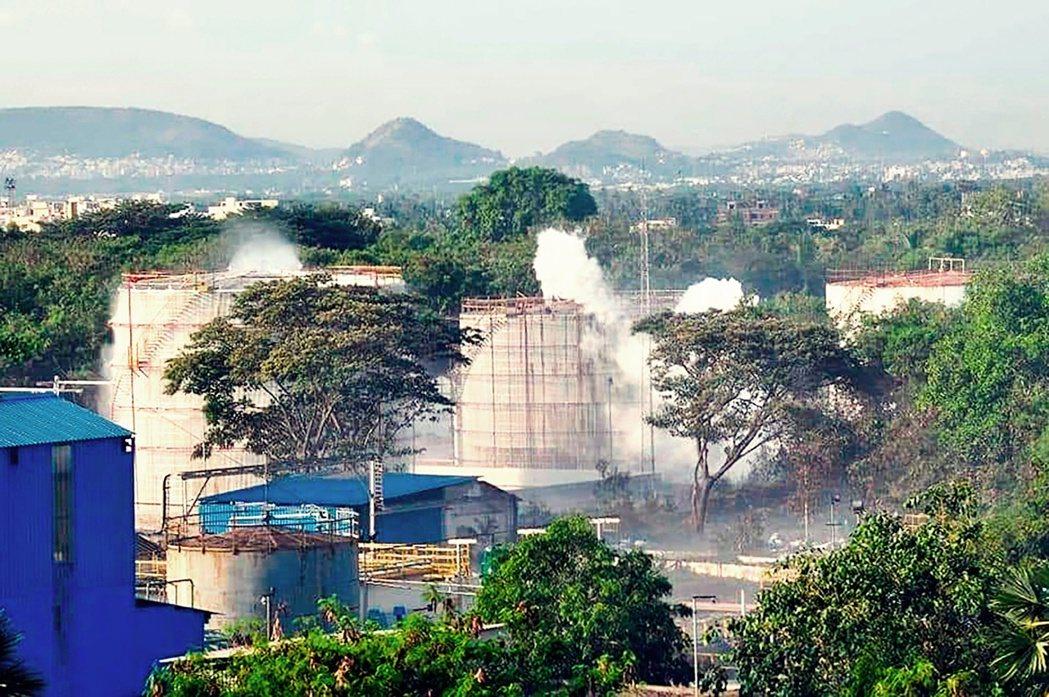 出事的LG化工廠,位於印度東海岸安德拉邦的維沙卡帕特南(Visakhapatna...