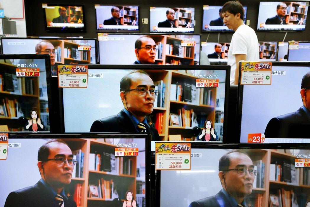 圖為在媒體上大談北韓秘辛的太永浩。金正恩本回的生死風波,也凸顯長期來,許多媒體、...