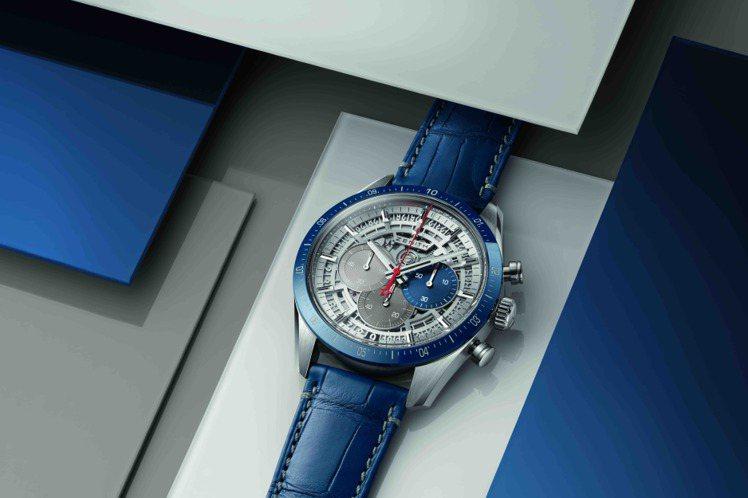 ZENITH CHRONOMASTER 2腕表,42毫米鈦金屬表殼搭配藍色陶瓷表...