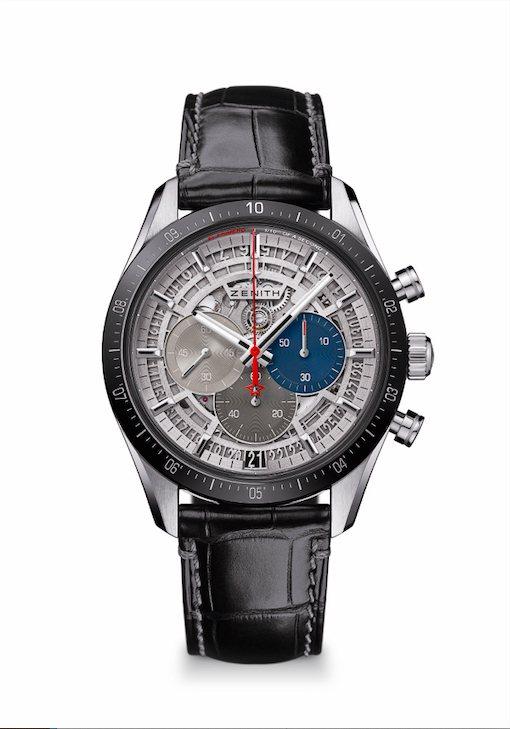 ZENITH CHRONOMASTER 2腕表,42毫米鈦金屬表殼搭配黑色陶瓷表...