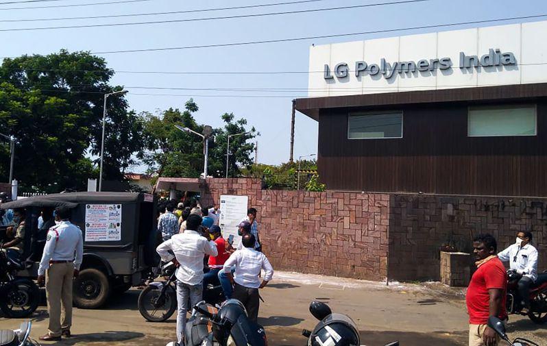 南韓LG化學位在印度東南部維沙卡帕特南的一處聚合物工廠,7日清晨發生有毒氣體外洩意外。法新社