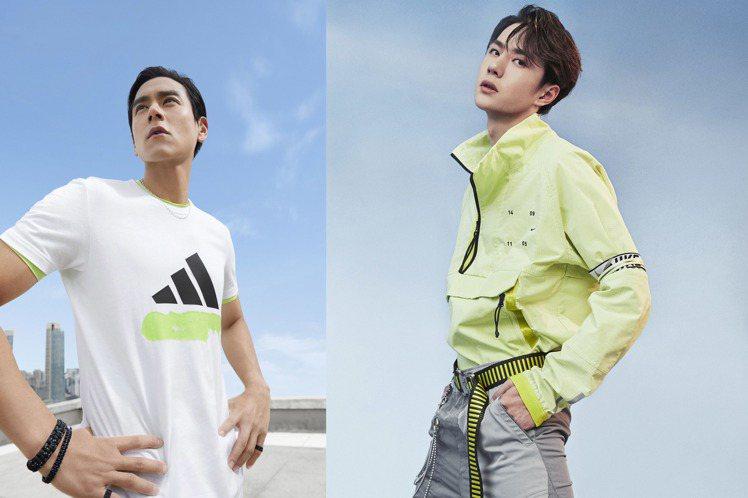 彭于晏、王一博演繹各自代言的adidas與Nike夏季系列,呈現截然不同的造型。...