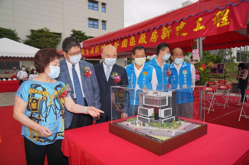 醫療器材廠台欣生技今(7)日在竹科生醫園區舉行新廠開工典禮。  圖/竹縣府提供