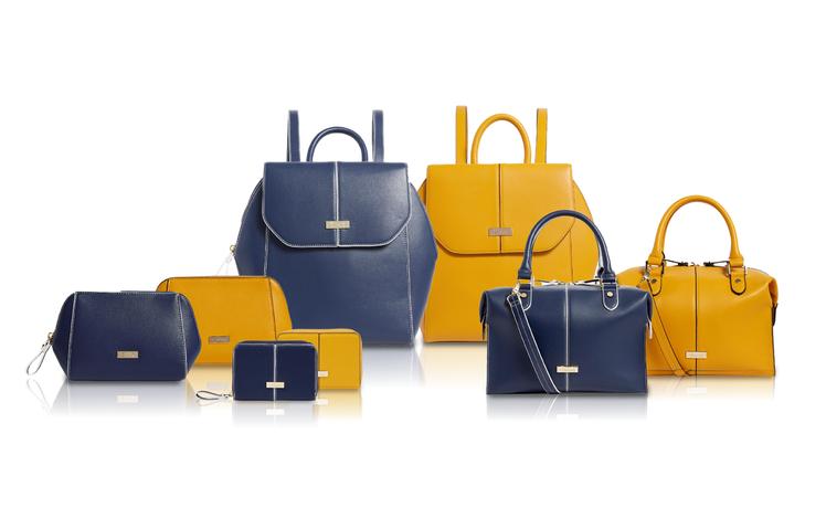Harrods格林威治系列,推出經典藍與活力黃包款配件。圖/新光三越Harrod...