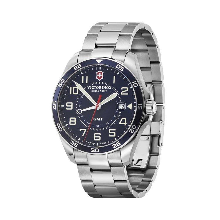 Victorinox FieldForce系列GMT腕表,不鏽鋼表殼、表鍊16,...
