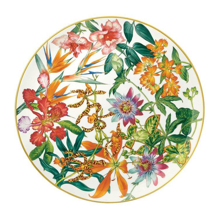 Passifolia系列餐瓷餡餅盤,16,120元。圖/愛馬仕提供