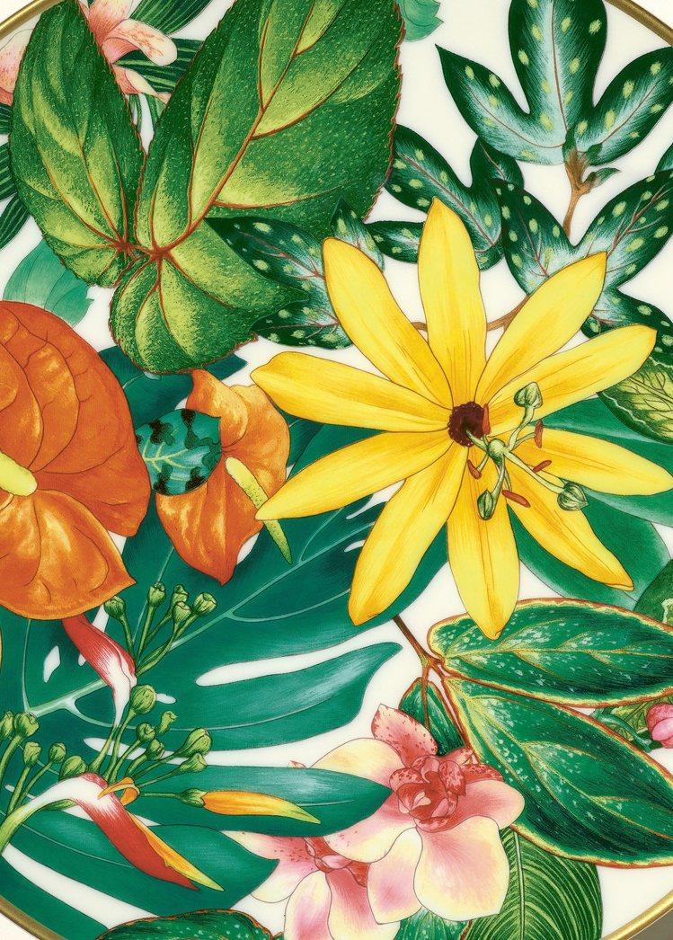 「Passifolia」餐瓷系列的圖樣源自藝術家Nathalie Rolland...