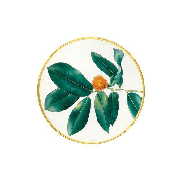 Passifolia系列餐瓷麵包與奶油盤,4,030元。圖/愛馬仕提供