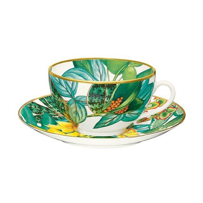 Passifolia系列餐瓷早餐杯與碟,11,620元。圖/愛馬仕提供