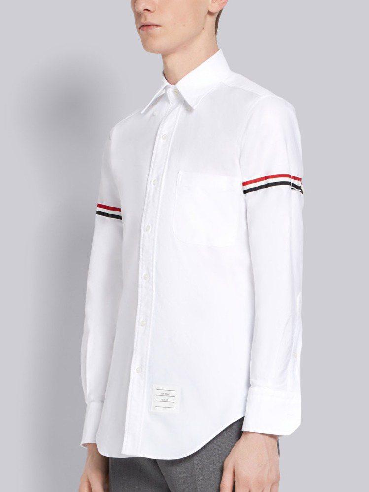 THOM BROWNE手臂經典條紋襯衫(男),19,980元。圖/ART HAU...