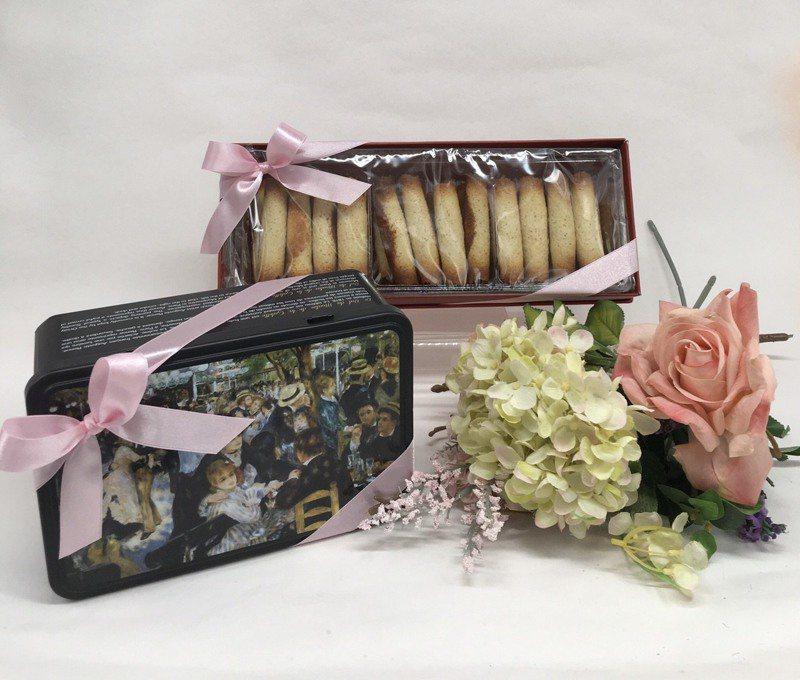 法式餅乾今年母親節推出法國印象派大師畫作禮盒。圖/LT法國布列塔尼餅乾提供