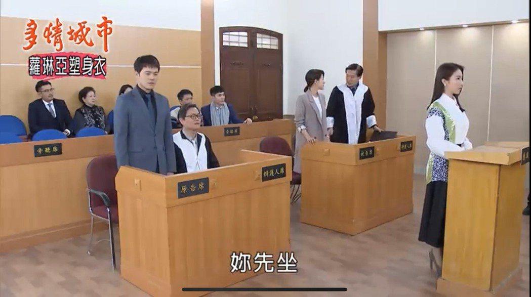 「多情城市」戲中蘇晏霈(右)、黃文星對簿公堂。圖/擷自youtube