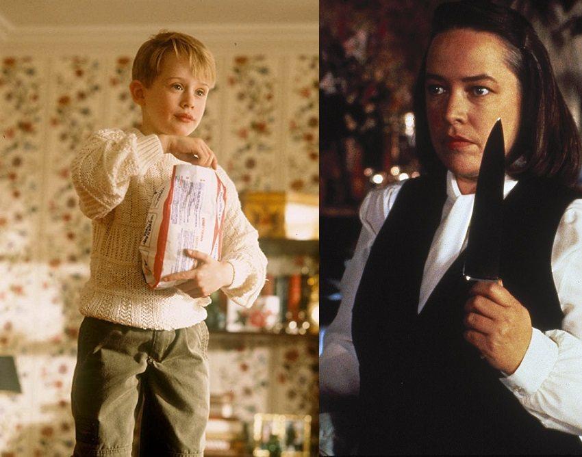 麥考利克金(左)以「小鬼當家」大紅之際,凱西貝茲也以「戰慄遊戲」登上奧斯卡影后寶