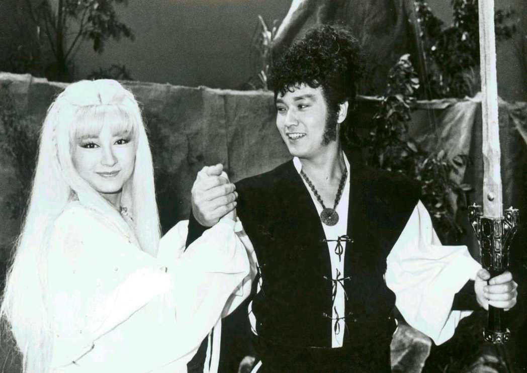 潘迎紫在與孟飛合演的「神州俠侶」中已有白髮魔女造型。圖/報系資料照片