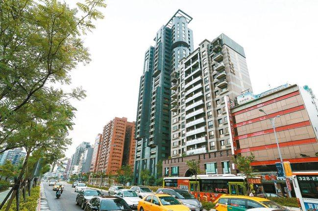 台北市住宅價格連續六個月上漲,尤其是大安區年漲4.5%最多。 本報資料照片