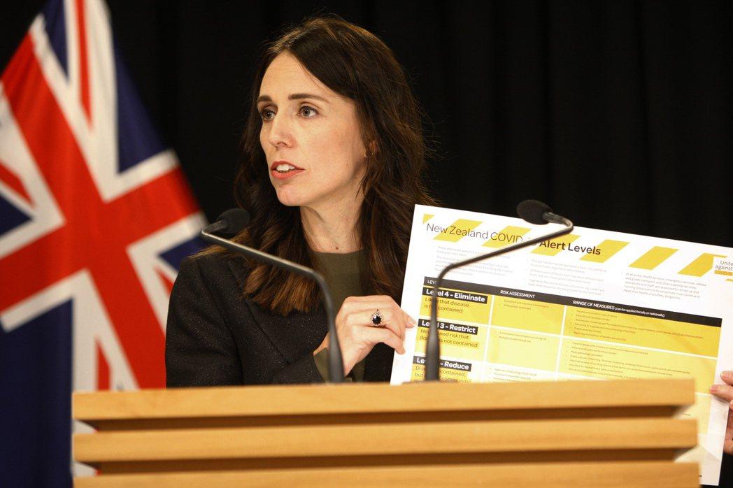 紐西蘭總理阿爾登在國內僅有6起確診案例時,就決定禁止外國旅客入境。 圖/美聯社