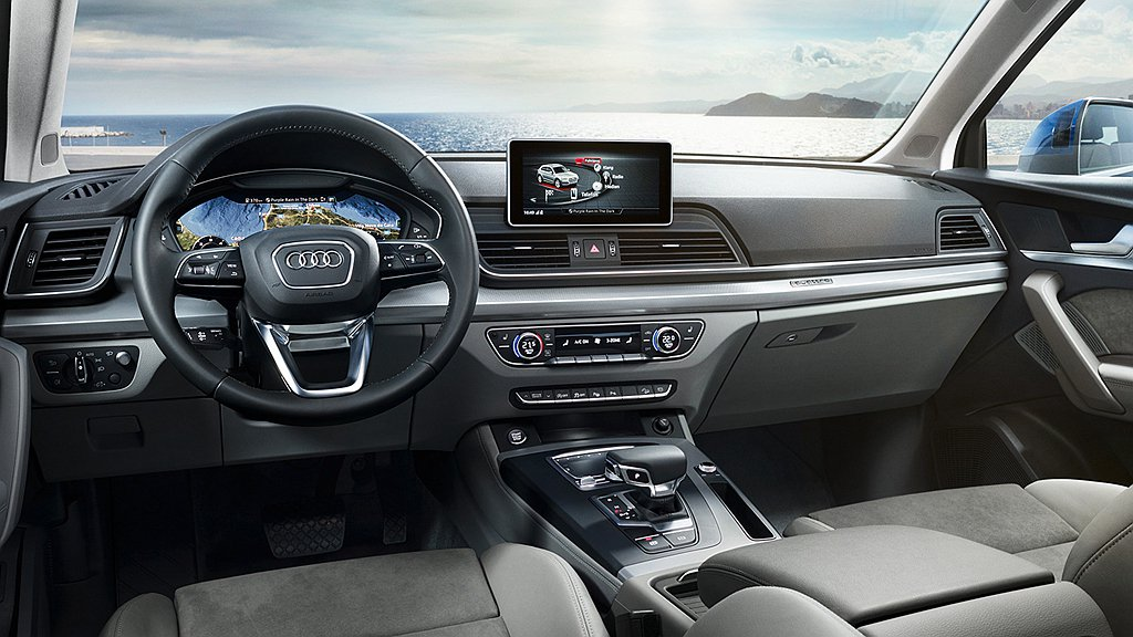 Audi Q5承襲Q系列經典血統,融合時尚、運動化的設計美學,無論動靜皆是眾人目...