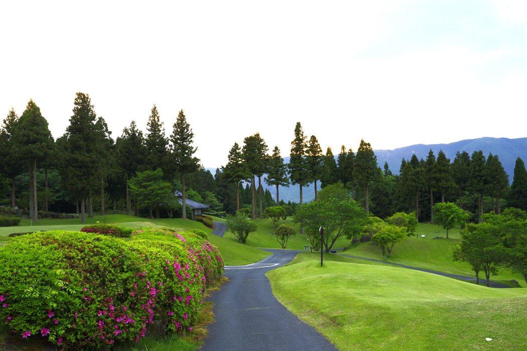 高爾夫球場夕景
