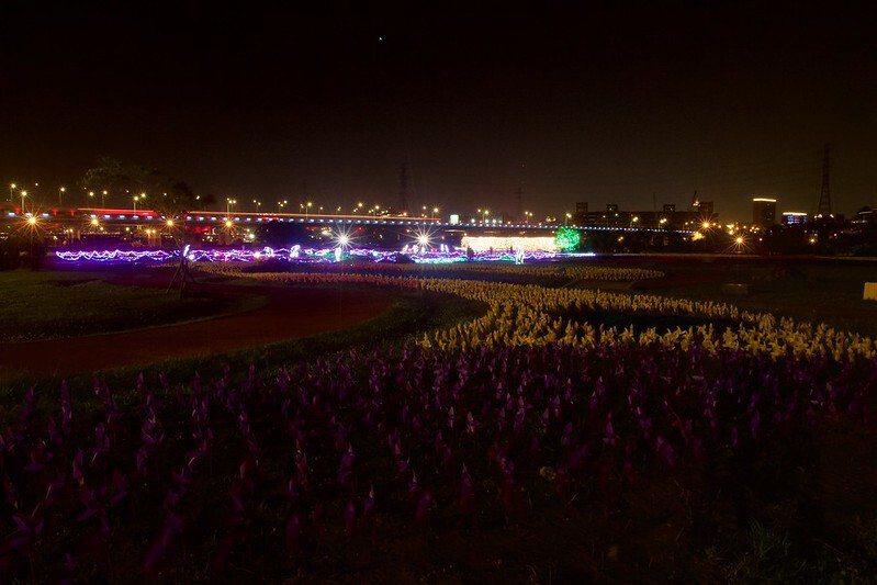 夜晚17萬支光雕幻影彩蝶,九萬隻繽紛風車的蝴蝶公園(2018 Amy珍藏影像)