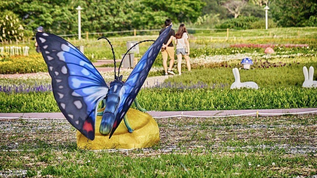 翅膀會動的蝴蝶,夜晚搖身一變像隻隨時會飛走的蝴蝶。