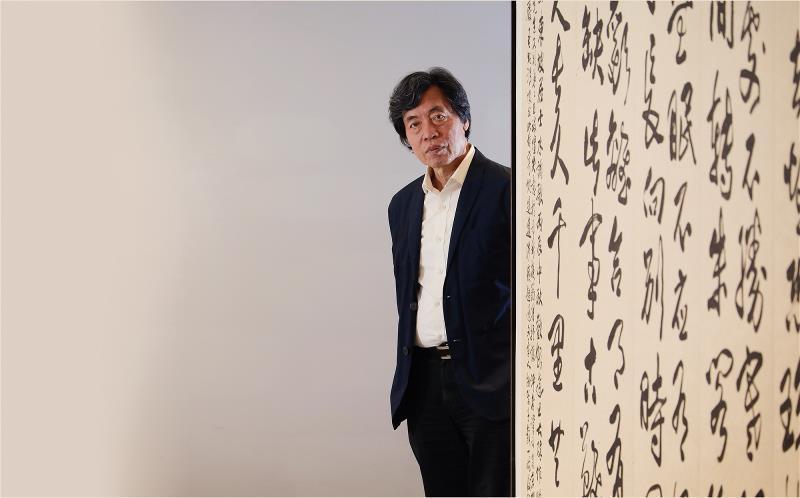 朱振南一輩子力求藝術的頂峰,亦追求生命的華彩。 (林格立攝)