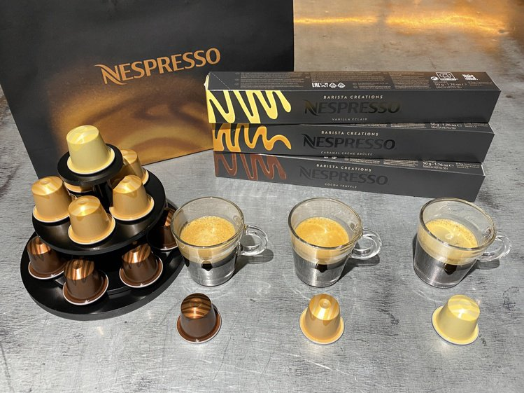 Nespresso推出全新3款風味咖啡,包括香草閃電泡芙風味咖啡、焦糖烤布蕾風味...