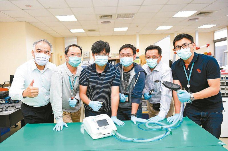 工研院攜手產業完成台灣首台呼吸器原型機。圖/工研院提供