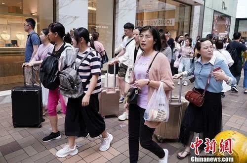 疫情前的香港遊客。圖/取自中新網