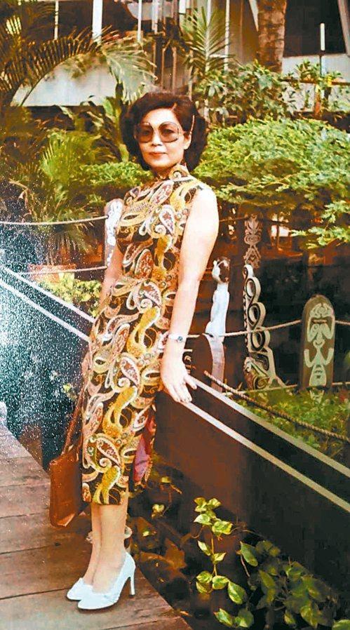 1982年6月初,遊印尼雅加達留下美麗身影。圖/陳美琳提供