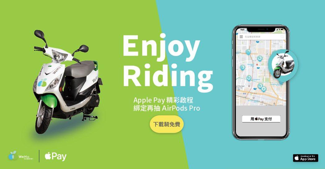 WeMo Scooter串連行動支付Apple Pay,綁定消費樂抽AirPod...