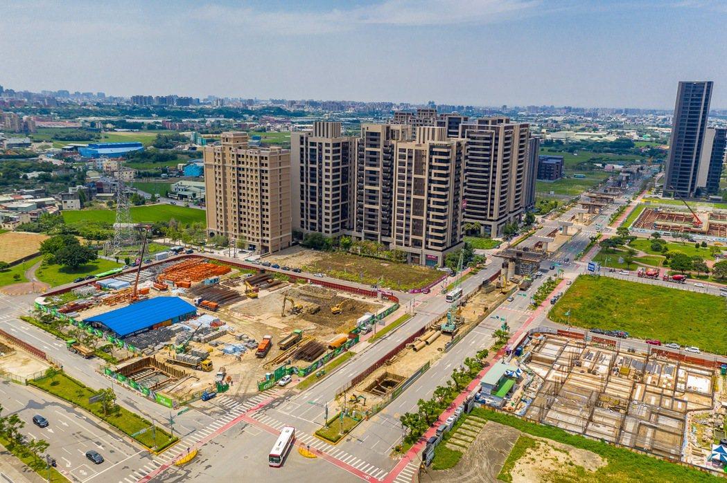 捷運綠線工程正如火如荼展開,對當地房市發展將產生正向質變。