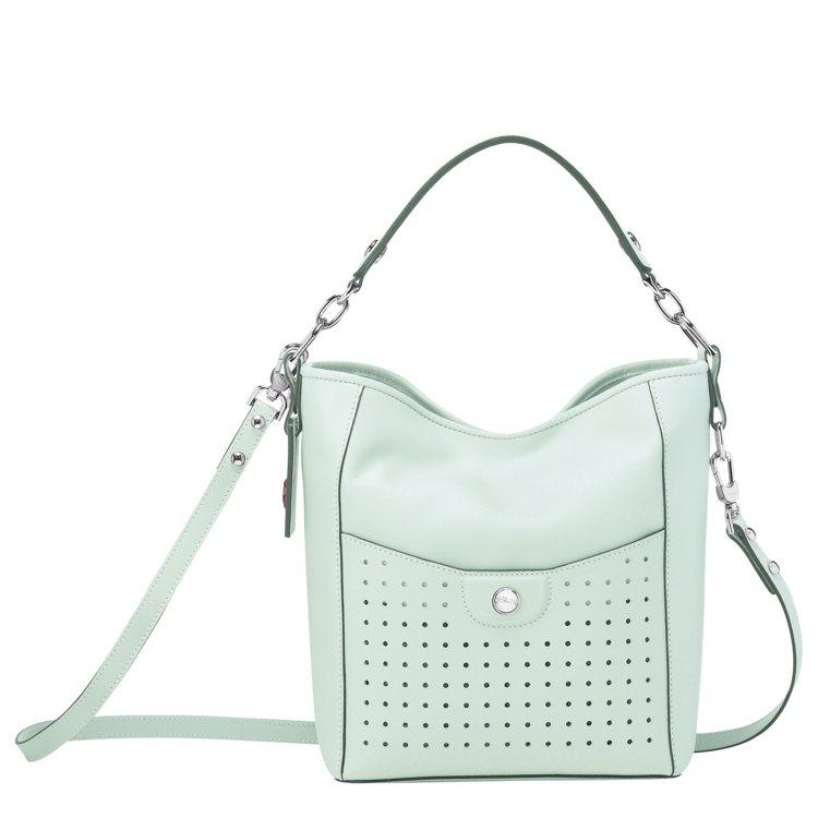Mademoiselle Longchamp青瓷色水桶包,33,500元。圖/G...