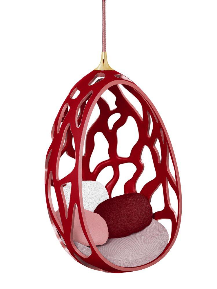 皮革Cocoon蛋椅,303萬元。圖/LV提供