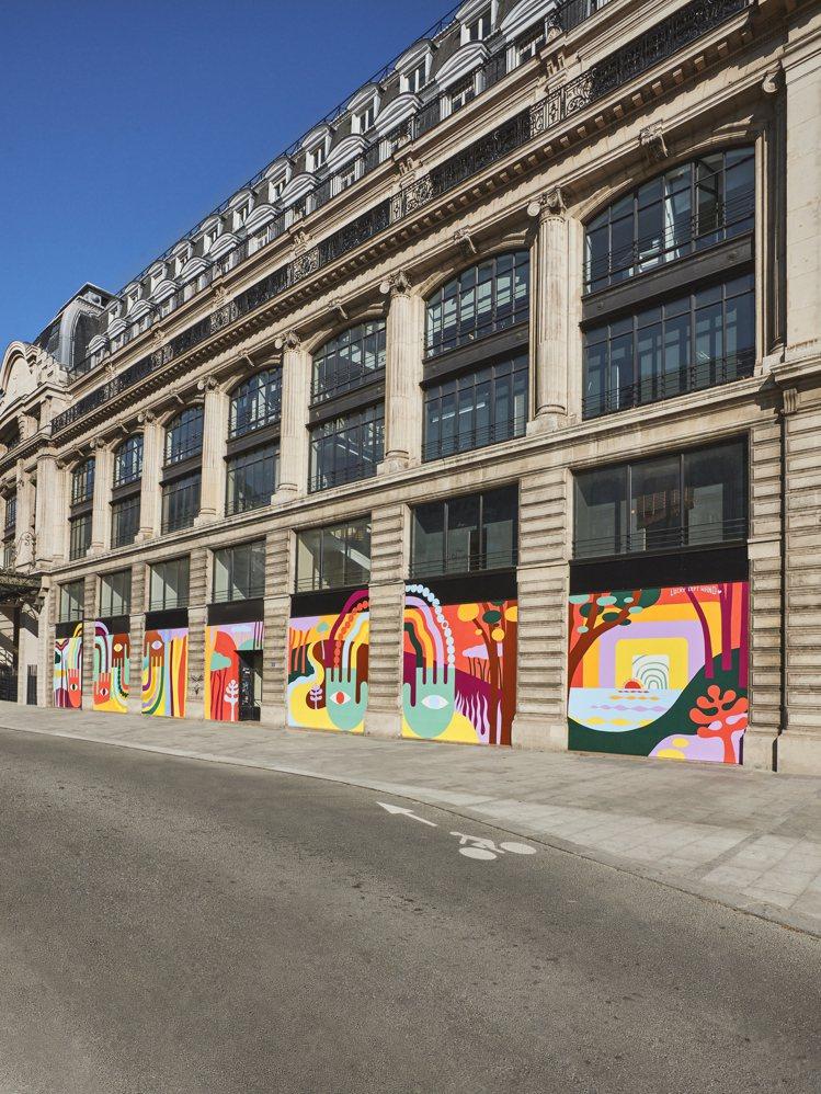 路易威登在品牌總部以彩繪藝術帶來積極樂觀的氛圍。圖/LV提供