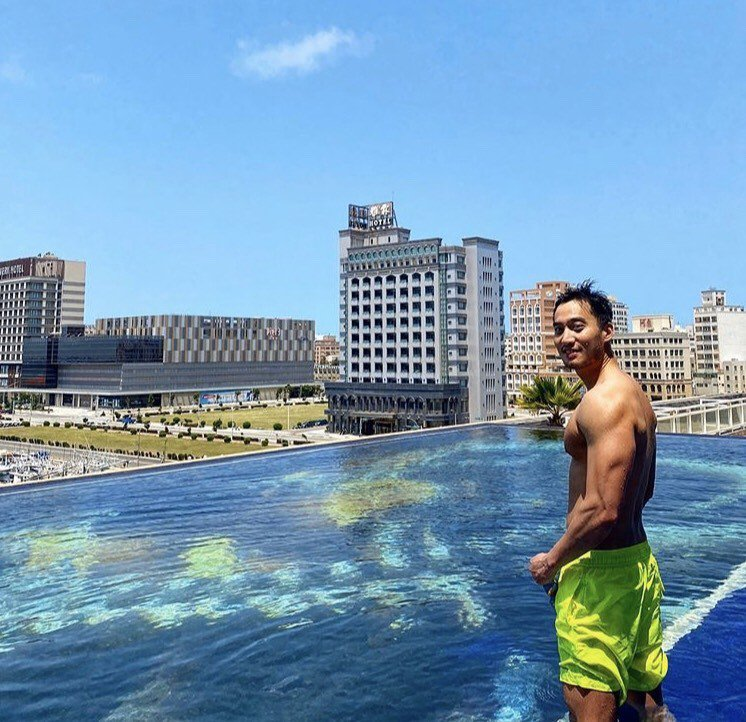 爆出婚變新聞時,賴弘國正在澎湖度假散心,現今已經結束度假行程返回台北。圖/摘自I...