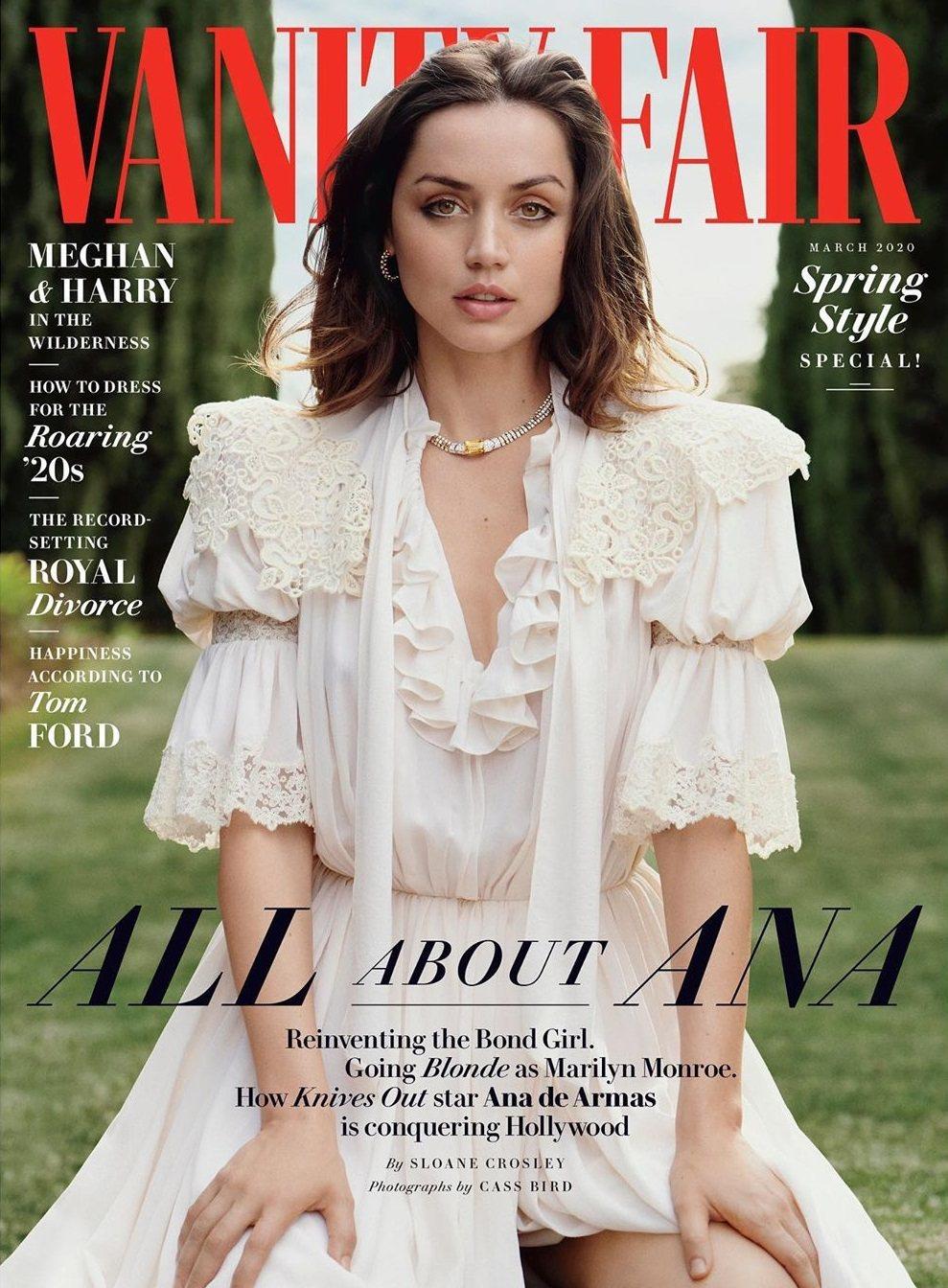 安娜迪阿瑪斯在好萊塢正走紅,登上時尚雜誌封面。圖/摘自Vanity Fair