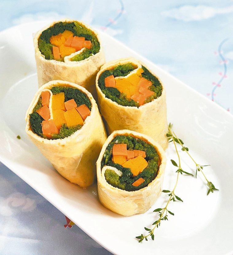 菠菜&胡蘿蔔南瓜和風蛋捲 (3人份)