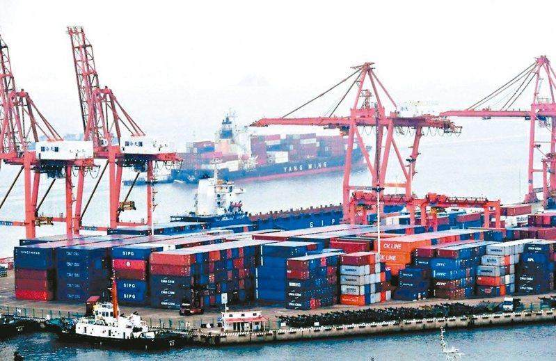 大陸今年前四個月對東協的出口逆勢增長3.9%。 (中新社)