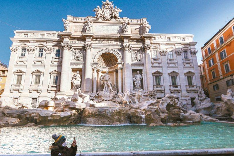 歐盟國家本周將宣布放寬歐盟國家之間的邊境限制,以提振受到重創的旅遊觀光業。圖為羅馬的許願池。 美聯社