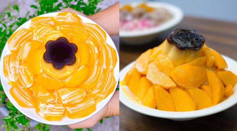 兩家都有用料豪邁的芒果布丁牛奶冰,經常被拿來比較。圖/IG@fei__fei__授權、IG@yong90128授權