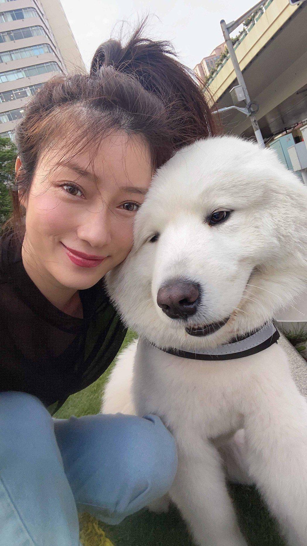 李婭莎自告奮勇幫鄰居顧狗。圖/滾石唱片提供