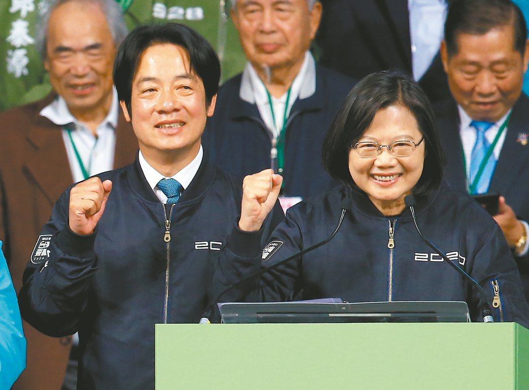 蔡英文總統(右)。 圖/聯合報系資料照片