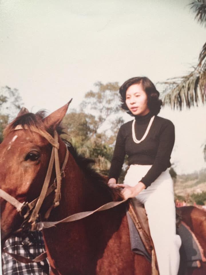 我媽年輕的時候,英姿煥發! 圖/廖晨琇提供