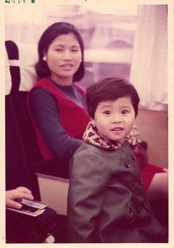 五零年代,我和媽媽一起坐火車! 圖/江巧文提供