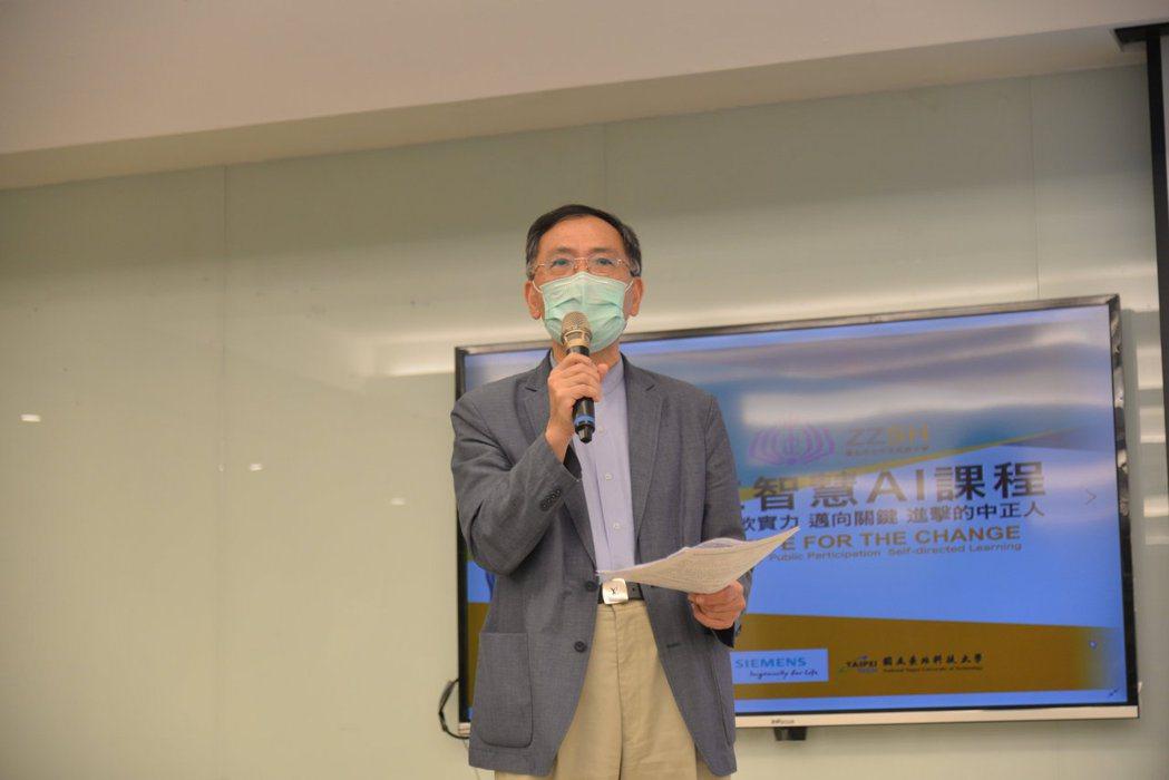 臺北市政府副市長蔡炳坤。 西門子/提供