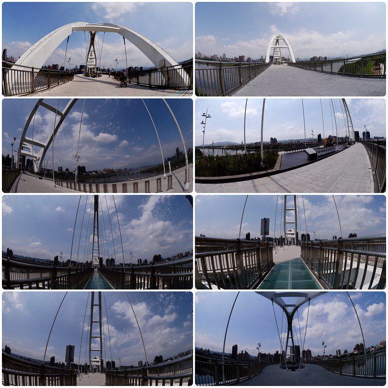 橋梁拱身的優美弧形,橋上抬頭往天空或者往遠處望,設計感十足的形狀,漂亮!