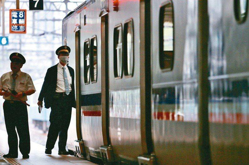台鐵列車長示意圖,非當事人。聯合報系資料照