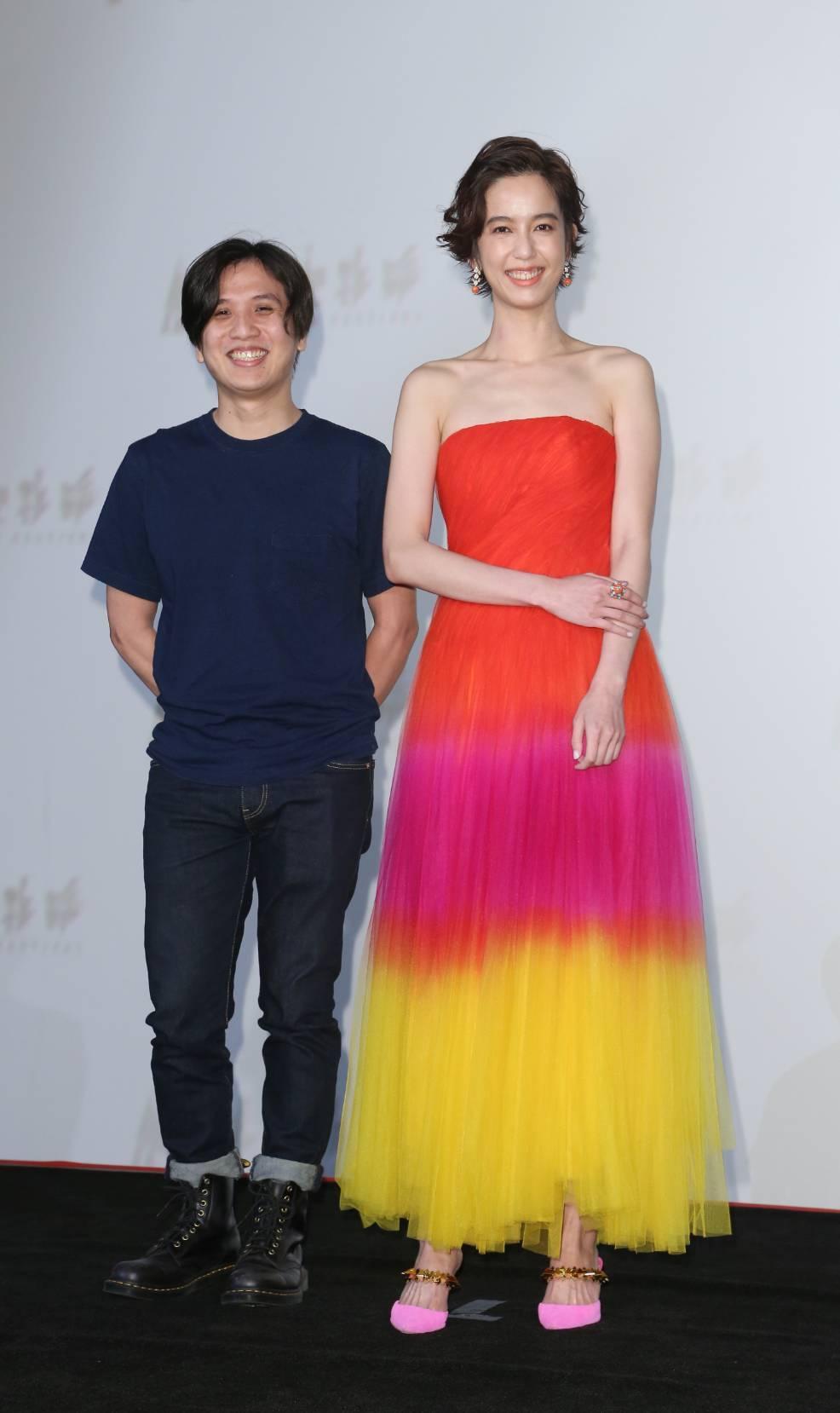 陳庭妮和導演洪子烜(左)為今年台北電影節影展形象廣告合作。記者陳立凱/攝影