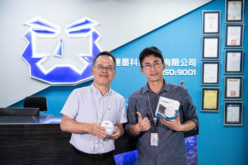 華墨科技(左)與達墨科技(右)雙方攜手,將「蔬活球」產品成功上市。 華墨科技...